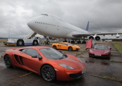 Boeing 747 and sports cars
