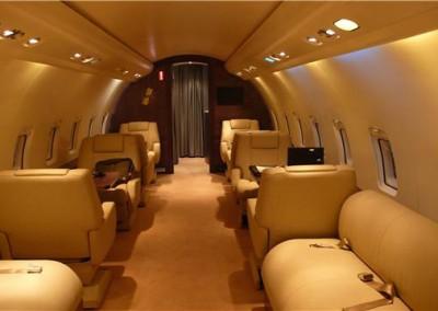Challenger Executive Jet Interior