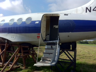 Dunsfold Jetstream aircraft stairs for filming