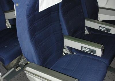 Economy Seats close up