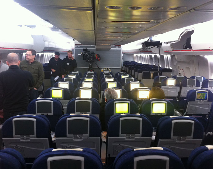 Airline seating used in the film 360