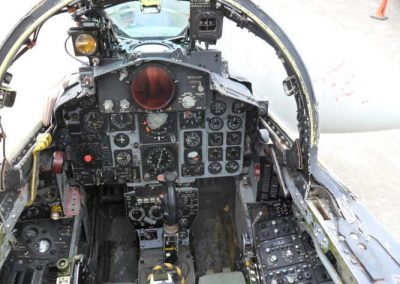 F4 Phantom fighter jet cockpit