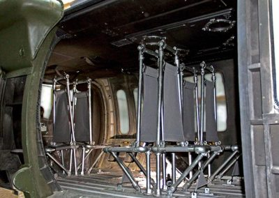 Black Hawk helicopter interior seating