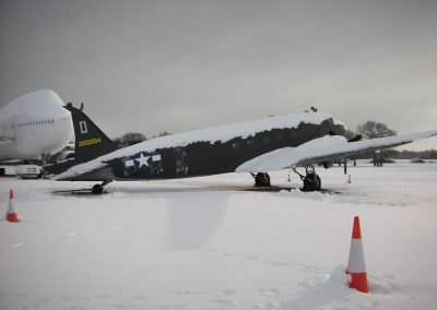 DC3 filmed in snow