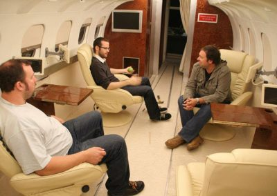 Gulfstream Private Jet interior as seen in the film the Panic Button