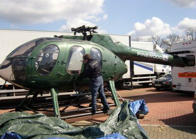 Helicopter MDH6002 used for filming