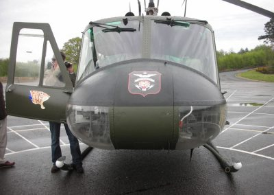Helicopter used for filming