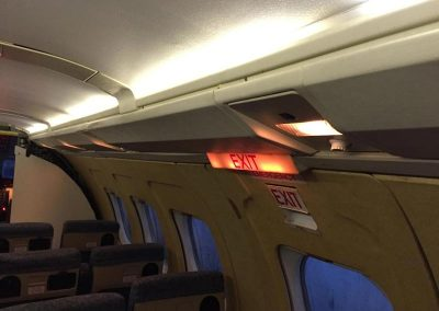 Jetstream seats and door exit sign