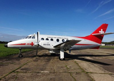 Jetstream used as an air ambulance aircraft for The Theory of Everything