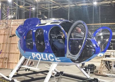 MD 600 Police helicopter exterior