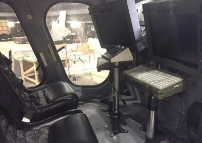 MD 600 Police helicopter interior