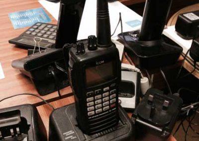 Icom handheld aviation radio
