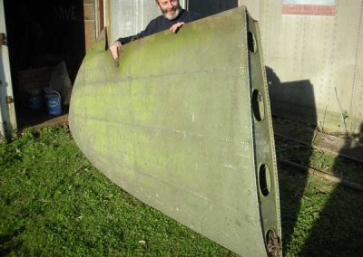Wing tip - Aircraft wreckage for filming