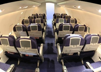 commercial airliner seating view from above