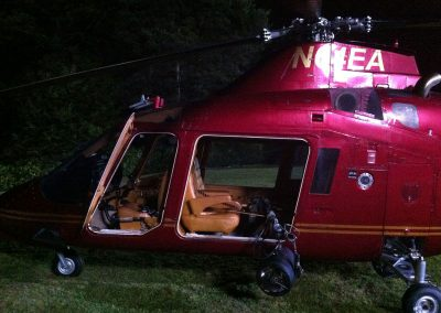 Helicopter used for aviation filming