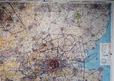 aerial map used for aircraft