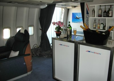 1st Class 747 interior