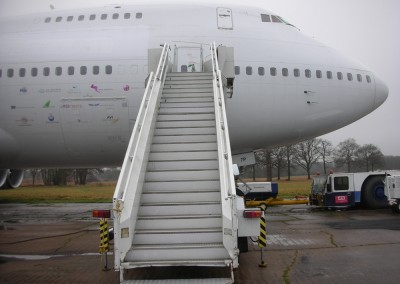 Boeing 747 aircraft steps