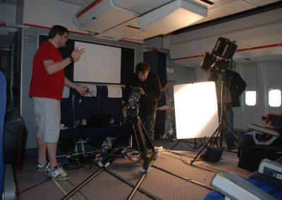 Boeing 747 economy filming