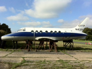 Dunsfold Jetstream aircraft used for filming