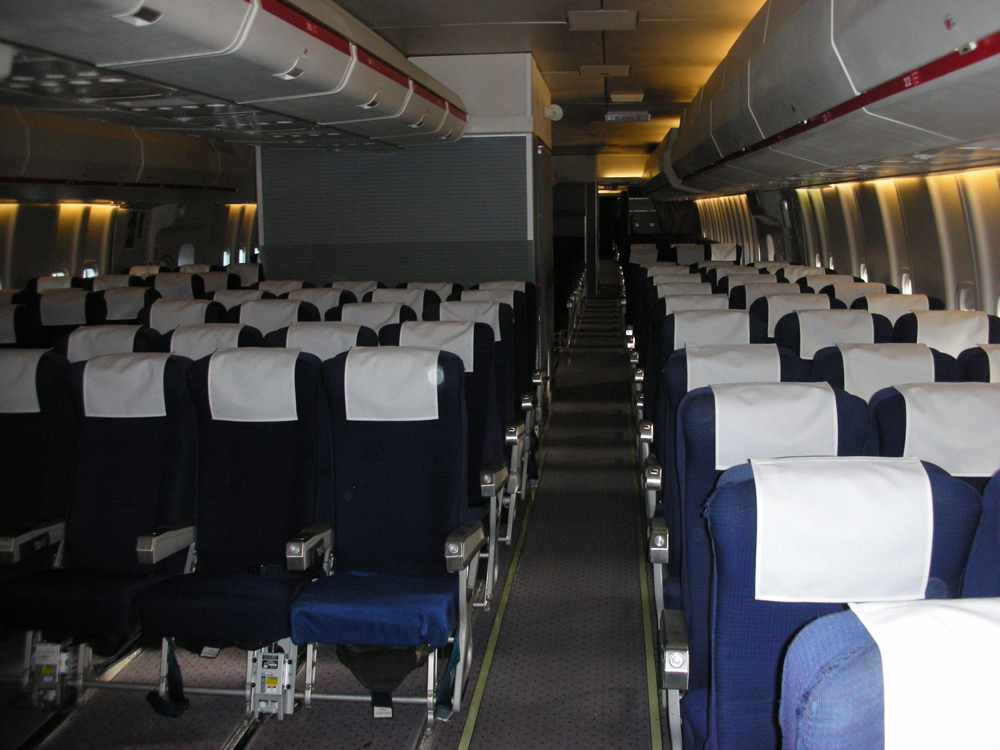 Dunsfold Boeing 747 Economy Seating