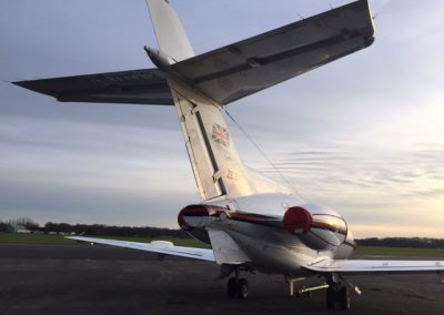 HS125 Aircraft Tail