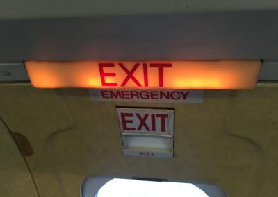 Jetstream door exit sign