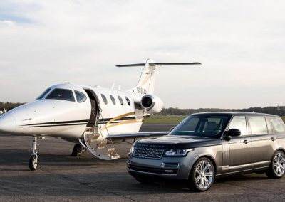Land Rover and Private Jet