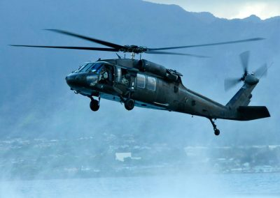 Black Hawk helicopter in flight