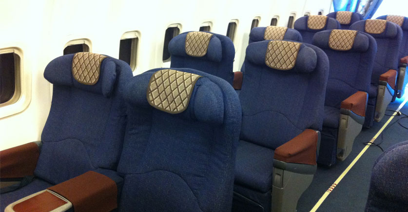 Rush airline seats 1970s 1st class cabin