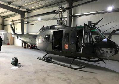 Huey HU-1H Military Helicopter