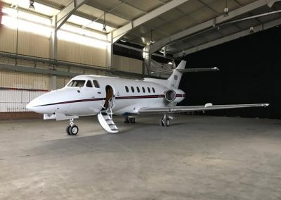 Medium sized private jet perfect for filming