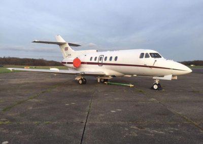 Medium size private jet exterior