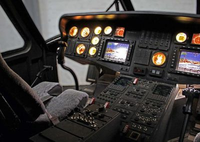 Black Hawk helicopter cockpit