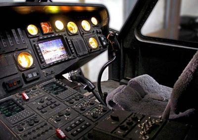 Black Hawk helicopter cockpit