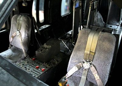 Black Hawk helicopter interior seat belts