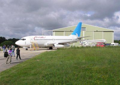 Aircraft Hangar Exterior