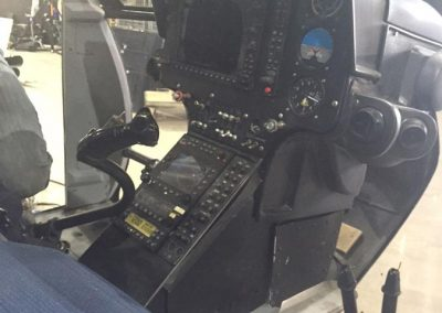 MD 600 Police helicopter cockpit
