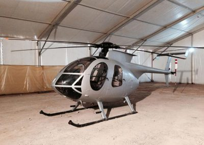MD helicopter used for aviation filming