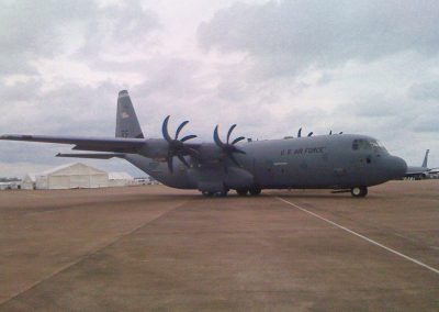 Military C130 private jet used for filming