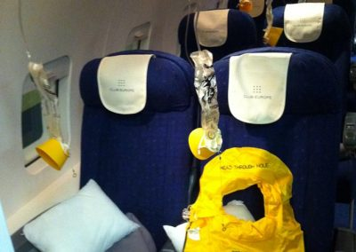 commercial airliner emergency equipment for film use