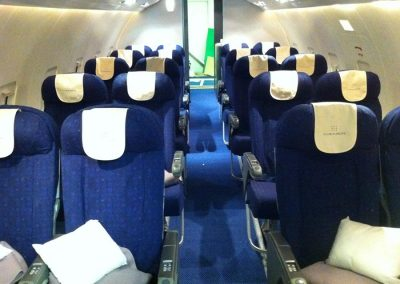 commercial airliner front view of seats