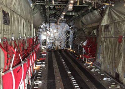 C130 military aircraft interior