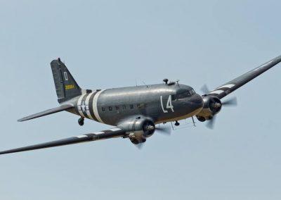 Farnborough c47 in flight
