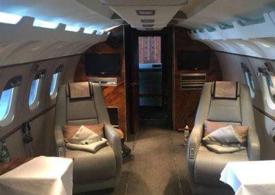 New private jet interior