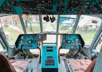 Mi8 Russian Helicopter cockpit