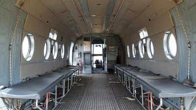 Mi8 Russian Helicopter interior with seating