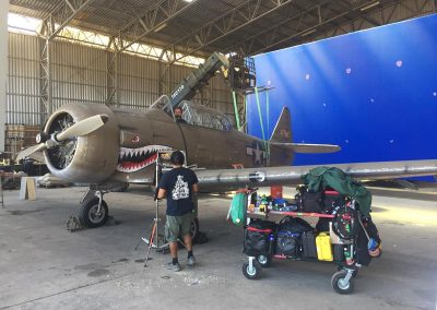 WW2 Aircraft in hangar