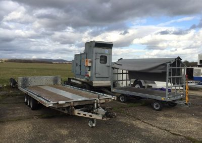 Airport vehicle trailers