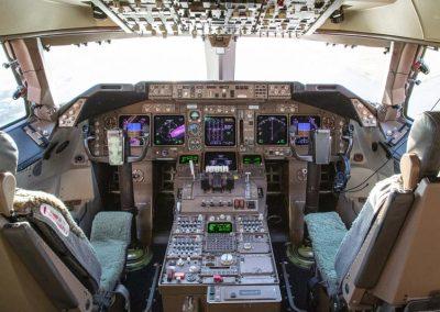 New Boeing 747 Cockpit